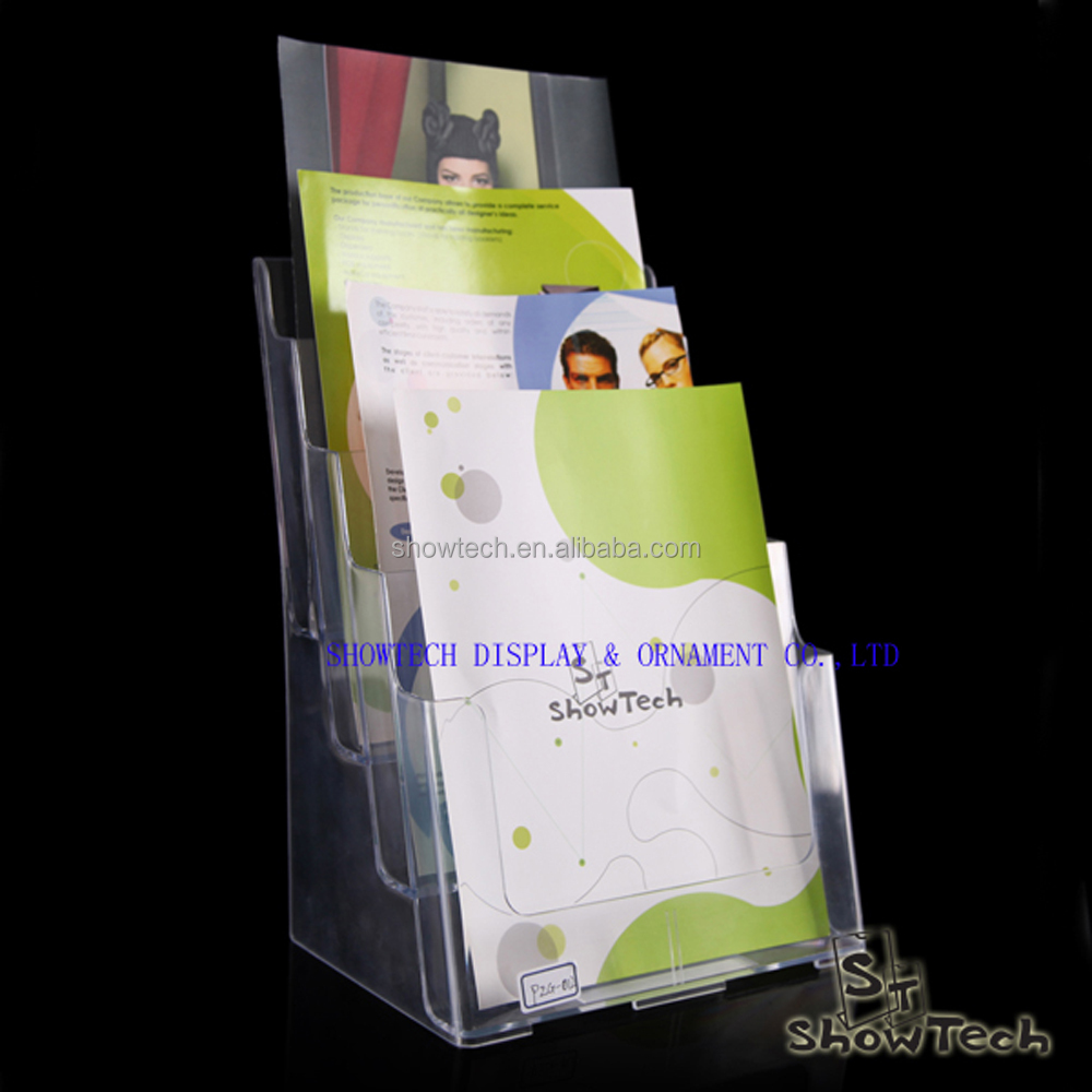 New design 4 tiers acrylic clear file holder for office portable use