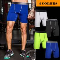 Custom Men Base Layer Sports Workout Compression Shorts Fitness Gym Running Skin Tights Shorts