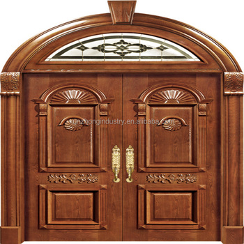 Modern Wooden Main Entrance Double House Gate Door Design