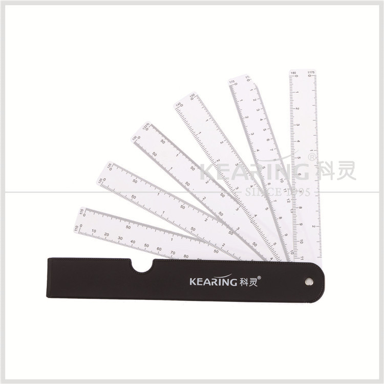 China Kearing 6pcs in set Fan type scale Engeering Architects Ruler For Graphics Design Multi Ratio Measure Scale #8500-6