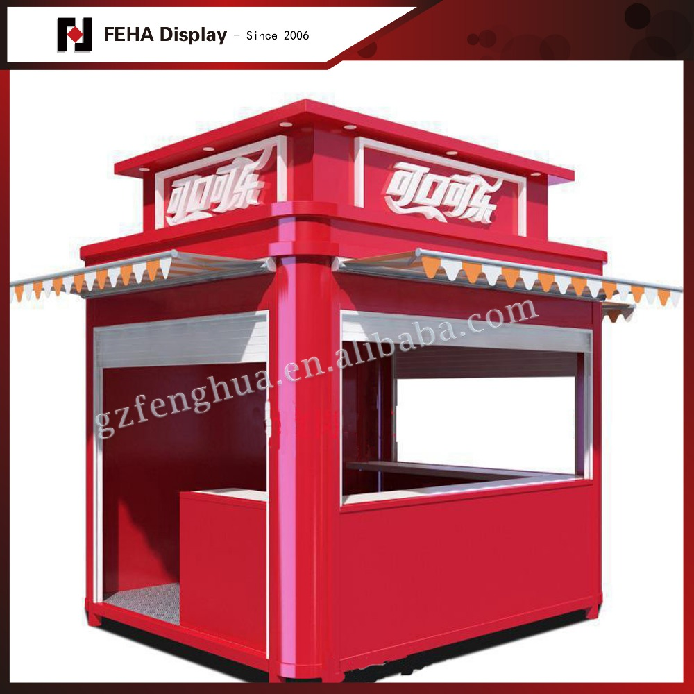 Custom container food booth outdoor drink kiosk