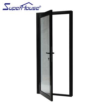 Alluminio commerciale vetrina di vetro singolo porta - Porta esterna in alluminio ...