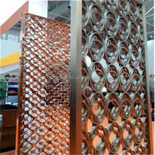 Online shipping Laser cut decorative metal panels waterfall dubai room divider screen