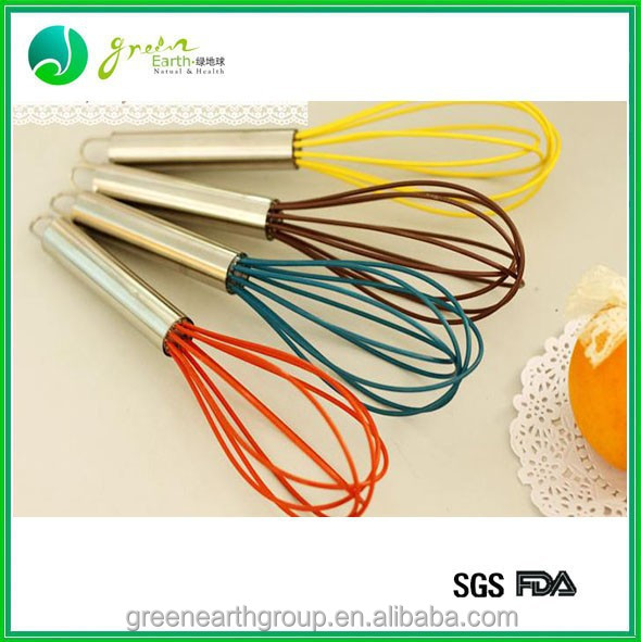 Mini Hand Silicone Egg Whisk For Blending Mixing