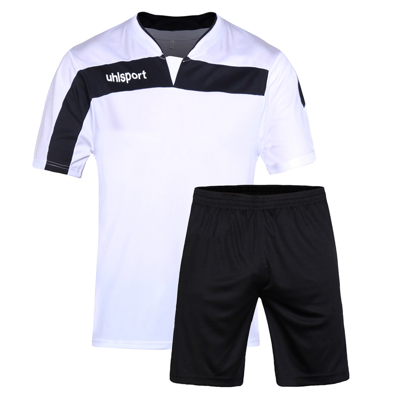 7ebacee62f9 Get Quotations · 2015 DIY male real soccer jersey sets men football  clothing soccer uniforms sets training activewear running