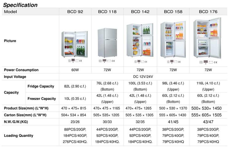 12v 24v Solar Refrigerator Fridge Freezer 12 Volt