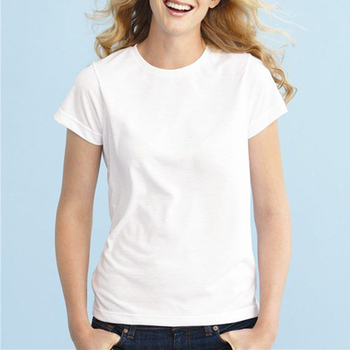 2014 women white simple style high quality bulk blank t Bulk quality t shirts