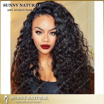8a Glueless Full Lace Human Hair Wigs For Black Women Loose Curly