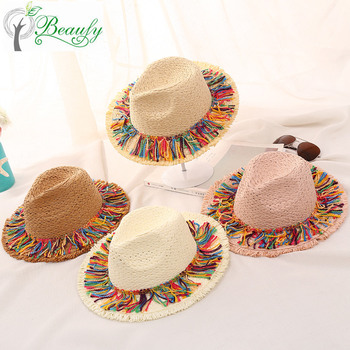 7ae9e090920ff Knitted Hat Summer Hat Type And Tassels Cheap Fedora Kids Hats - Buy ...