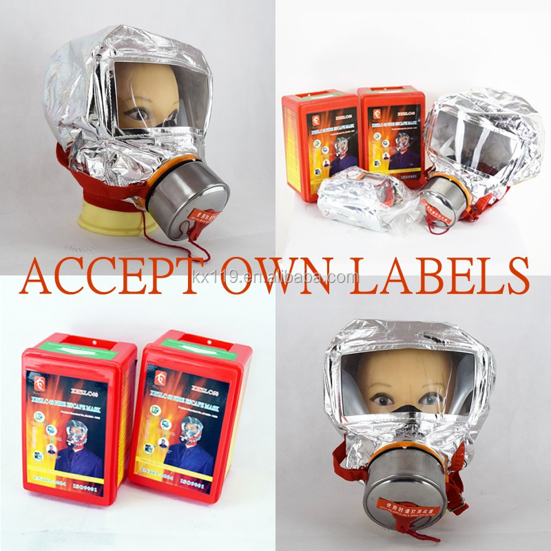 Respirators New Low Price Wholesale Xhzlc40 Fire Rescue Chemical Respirator Fire Escape Smoking Gas Mask Manufacturer