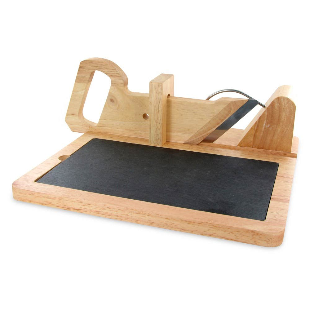 customizzed italian blade meat slicer wooden guillotine slicer for hot selling 3