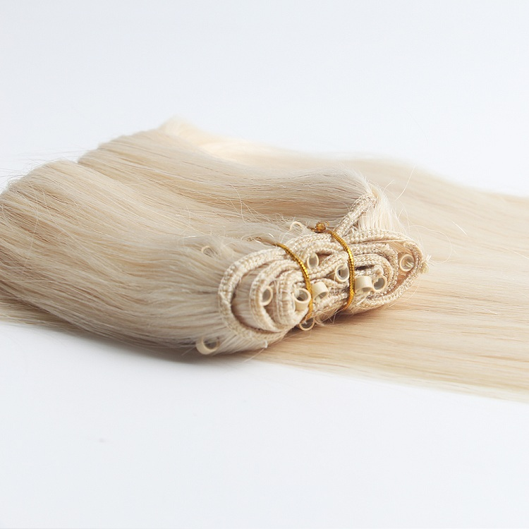 Virgin remy double drawn human hair micro beads weft hair extensions