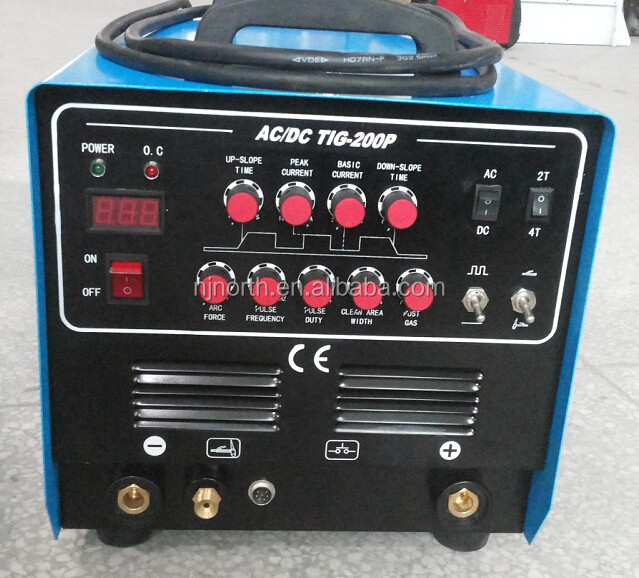 high quality inverter mosfet ac dc arc tig 200 welding machine,2017 professional high frequency acdc tig welder WSME200
