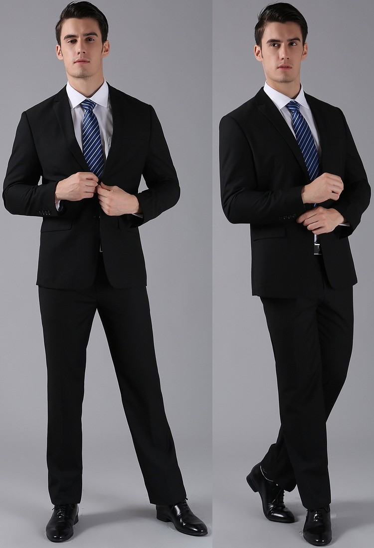 (Kurtki + Spodnie) 2016 Nowych Mężczyzna Garnitury Slim Fit Niestandardowe Garnitury Smokingi Marka Moda Bridegroon Biznes Suknia Ślubna Blazer H0285 14