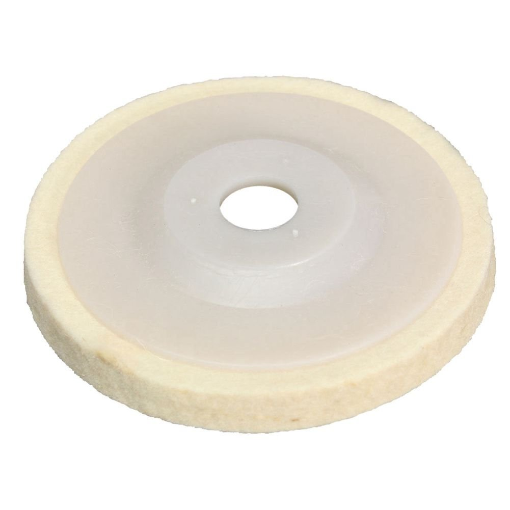 SODIAL(R) 1 pieces 4 inch Round Polishing wheel wool felt polishers pads NEW