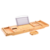 Luxury Bamboo Bathtub Caddy and Tray Bath Tub Caddy Bath Tray Securely Holds Drinks, Book/Tablet, Bath Accessories, Phone