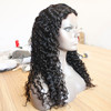 Natural black brazilian human hair wig 130% density natural hairline full lace wig