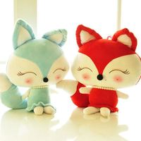 Soft Toys 30/40/50cm Lovely Fox Plush Toys Kawaii Stuffed Animal dolls Couple Foxes Valentine day Birthday Gift