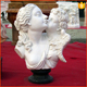 Popular high quality famous bust statue marble lady and little angel kiss for decoration