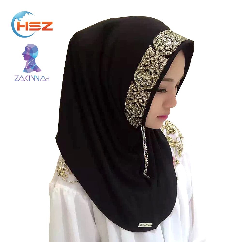 Zakiyyah V002 Malaysian Hot Sale Hot Arab Jilbab Full Color Hijab Scarf