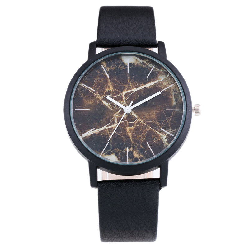 5102 Drop shipping new arrival fake marble dial simple leather watch aliexpress best seller men's watch