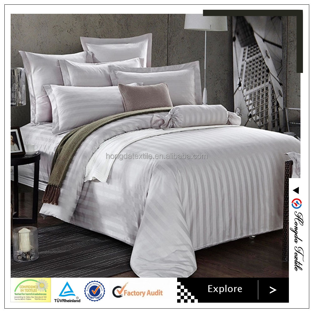 LUXURY HOTEL WHITE COTTON BED SHEETS
