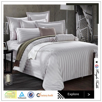 100% Cotton White Luxury Hotel Bed Linen / Bedding Set / Used Hotel Bed  Sheets