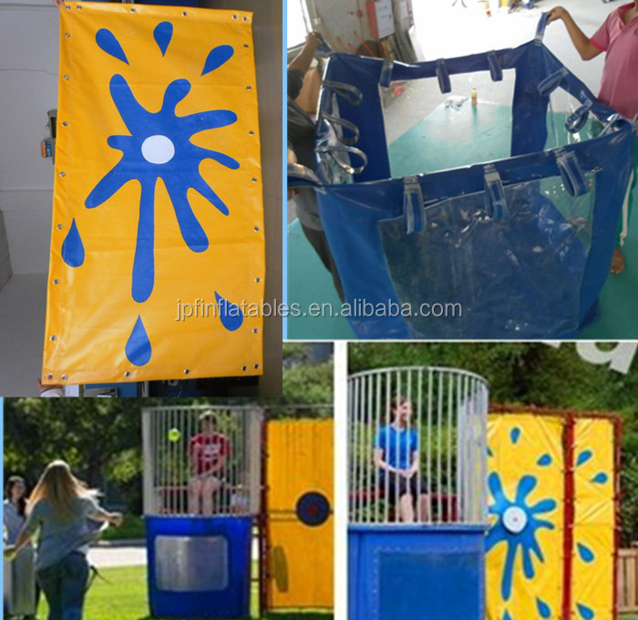2019cheap inflatable dunk tank for sale, inflatable sports game equipment