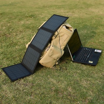 Factory private model 20W foldable waterproof laptop solar charger 24V