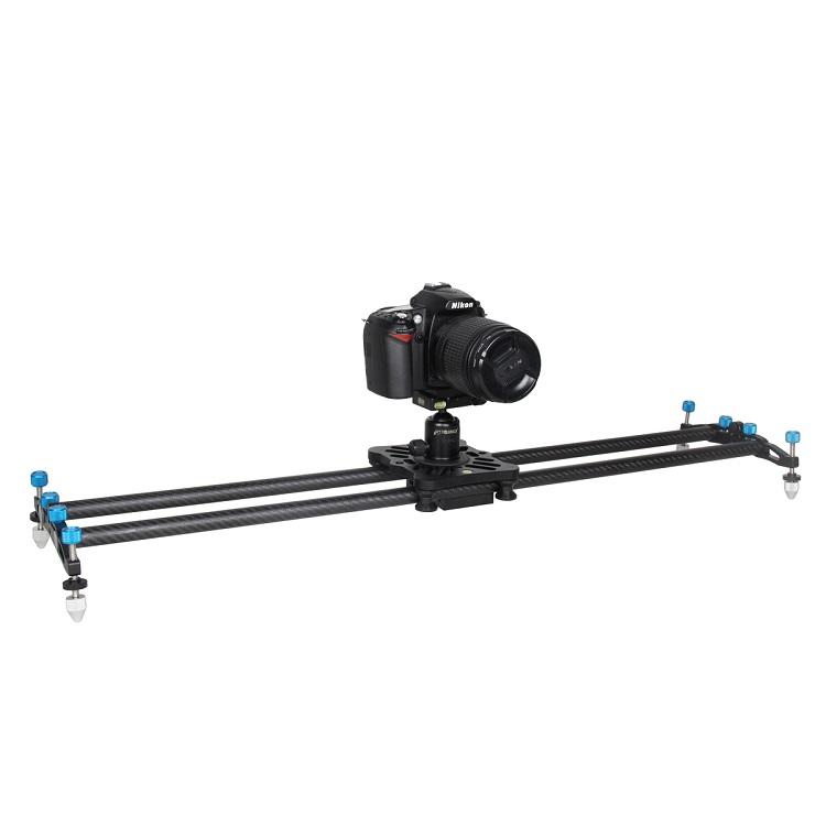 YELANGU L80T Yeni Pro Karbon Fiber Taşınabilir Video Kamera Parça Slider Dolly DSLR Canon Nikon için Kameralar