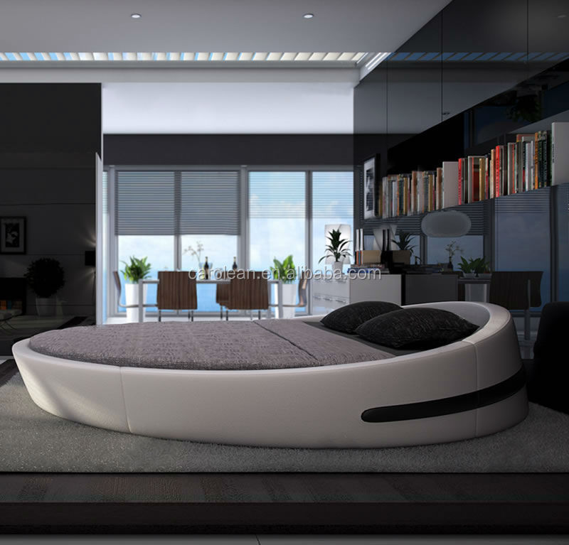 Italian Leather Round Bed, Italian Leather Round Bed Suppliers and  Manufacturers at Alibaba.com