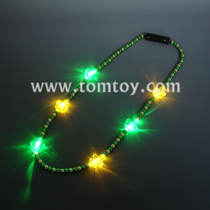 Light Up Flower De Luce Beads Necklace