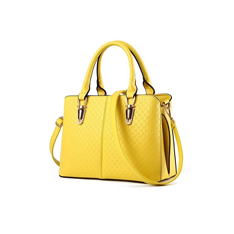 Get Quotations · COMO Women HB-514 Jessica PU Leather Top-handle Satchel  Handbags Shoulder Bag fca0cb985d