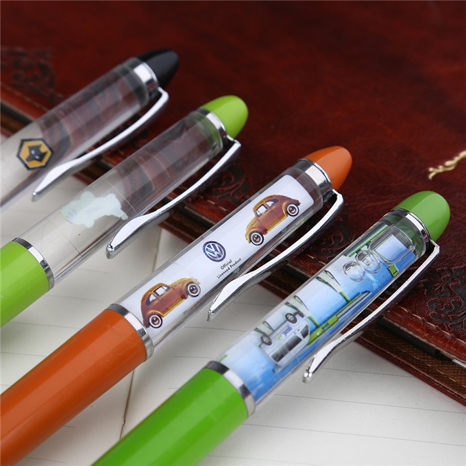 exquisite fashion shape floating liquid glitter gel pen