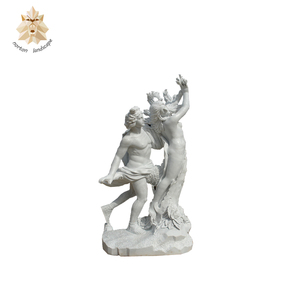 Hand-craved Custom Make Marble Sculpture Carving man and Woman Stone Statues NT-00844RI