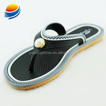 2018 Cheap China Market Shoes Flat Sandals Latest Design Slipper Sandals 1J707+3W