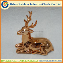 XMAS ceramic kneeling deer decor with different colors