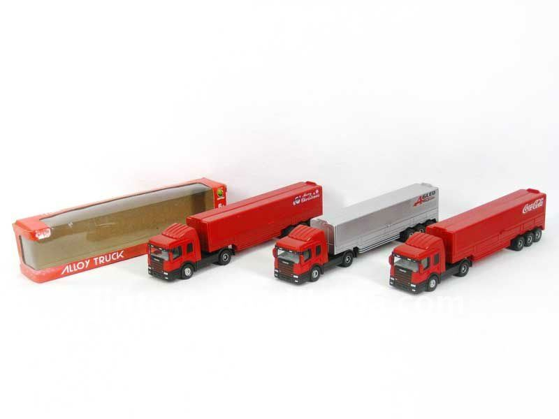 Diecast Container,Diecast Truck,Mertal Free Wheel Container(3 Models) --BG8429