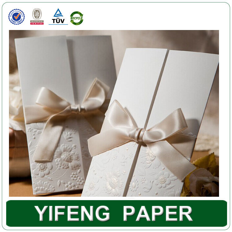 Alibaba Express Fancy Folding 3D Wedding Invitation Cards Design