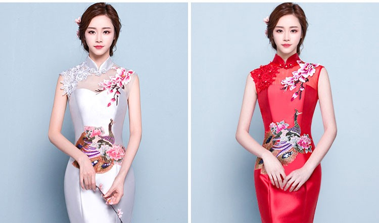 Frauen Kleid Qipao Hochwertige Party Abendkleid Traditionelle ...