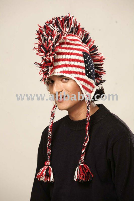 Knit Mohawk Hat Buy Knitted Wool Animal Hats Product On Alibaba