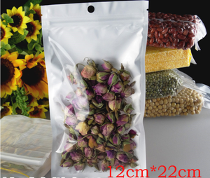 Hot sale one side clear yin yang bags for bean packaging