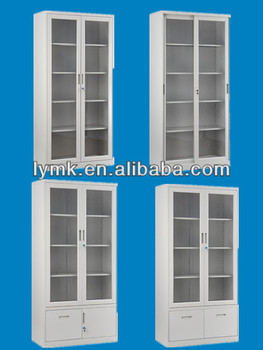 bookcase with glass door and glass door filing cabinet for office