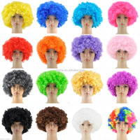 High quality various styles synthetic hair wig different colors curly clown wigs W14103