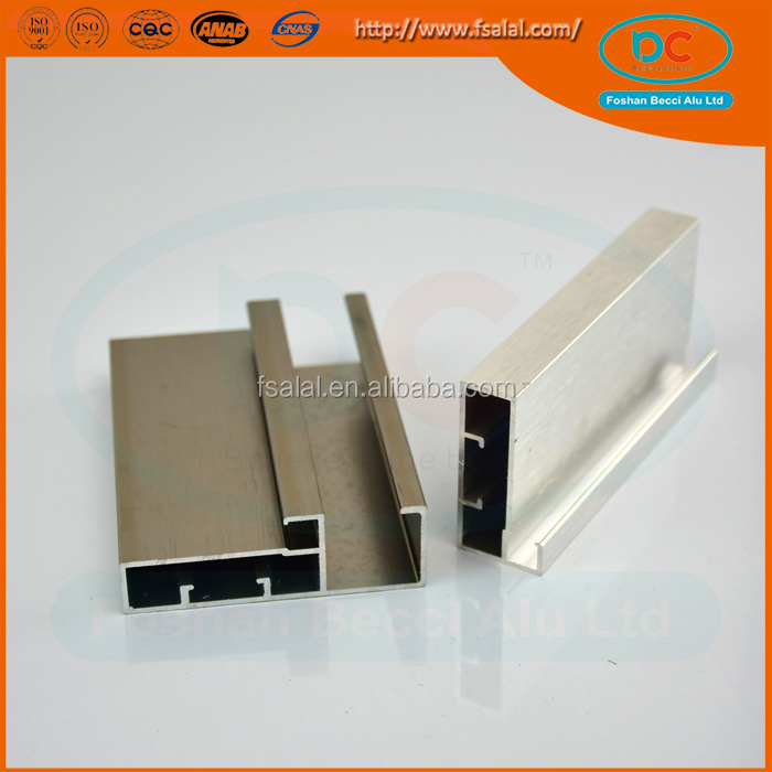 6000 Series Grade and Al,Aluminum profile for furniture Aluminum profile for sliding system Application aluminum sliding profile