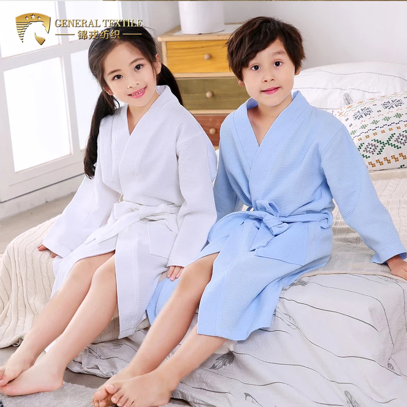 Promotional Hotel / Home Cotton Hooded Baby /Children Bathrobe