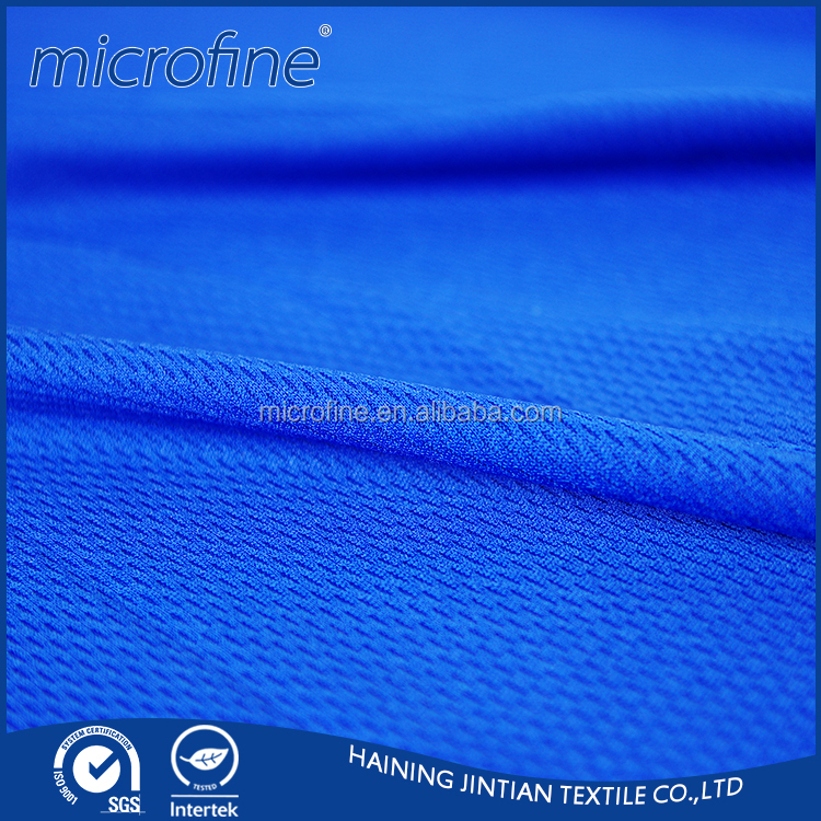 100% Polyester dry fit bird eye mesh fabric for sportswear