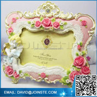 Romantic gifts resin 4x6 valentine photo frame for lover
