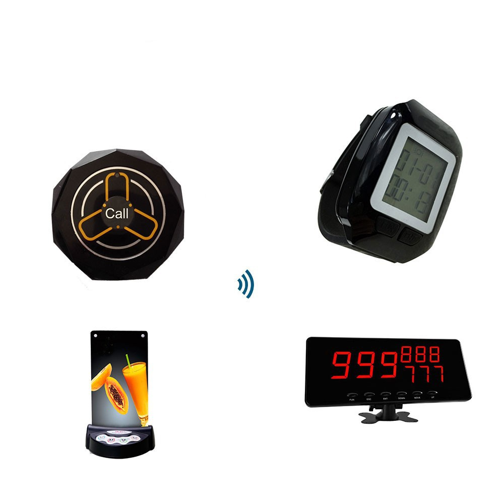 remote service pager , restaurant wireless calling system , waiter calling device