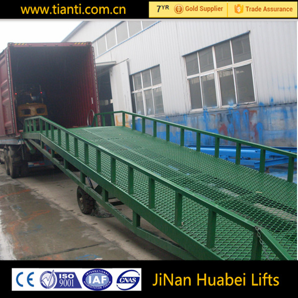 container unloading lift platform